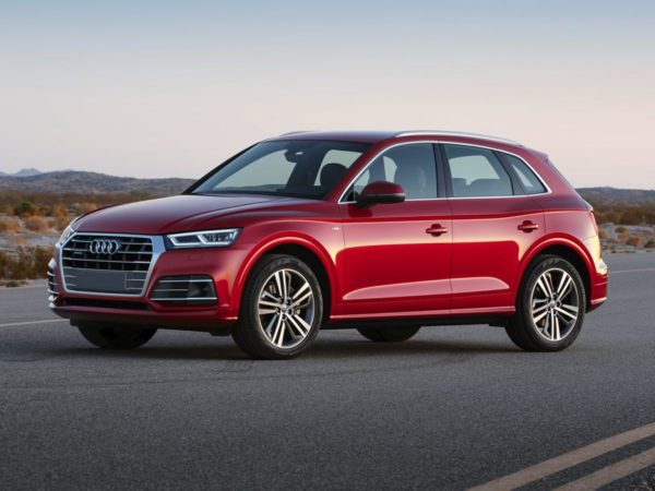 Red 2018 Audi Q5 side view