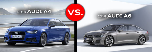 2019 Audi A4 vs 2019 Audi A6 model comparison