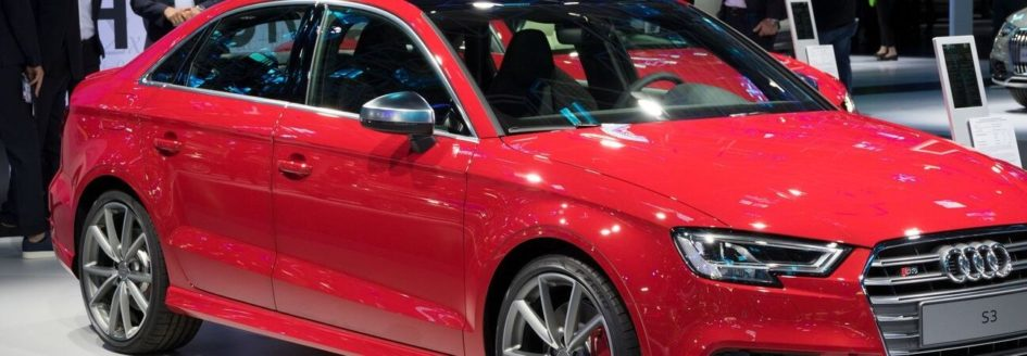2019 audi a3 parked in a viewing area