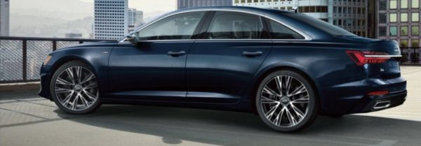 2020 audi a6 parked on a parking deck